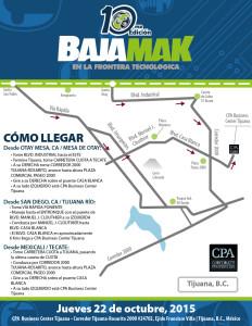 Mapa nueva SEDE BajaMak 2015